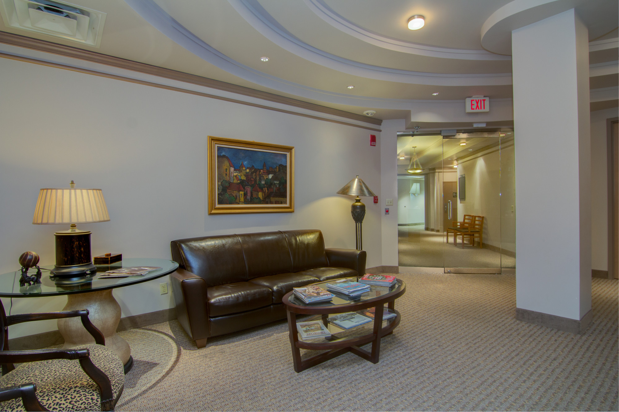 Our professional reception area is perfect for greeting guests.